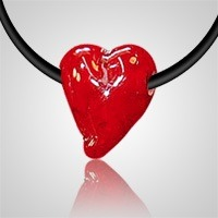 Red Heart Pet Cremation Pendant