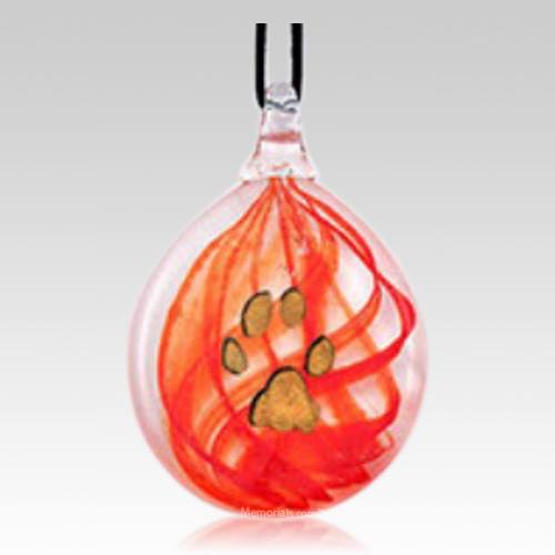 Red Paw Keepsake Ornament