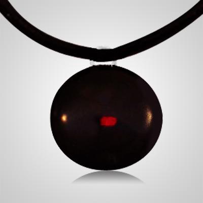 Red Spot Cremation Ash Pendant