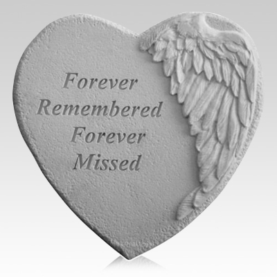 Remembered Angel Heart Stone