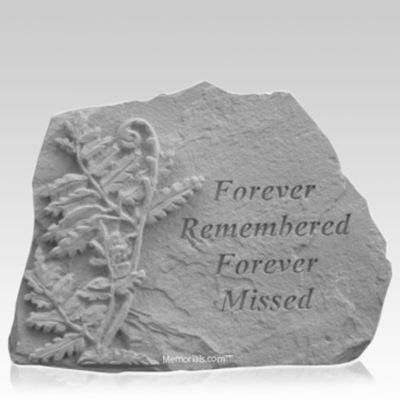Remembered Fern Memorial Stone