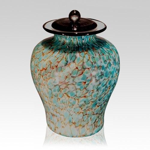 River Glass Cremation Urn