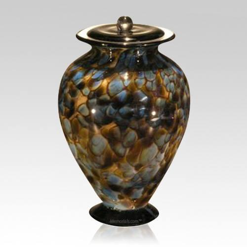 Riverstone Glass Cremation Urn