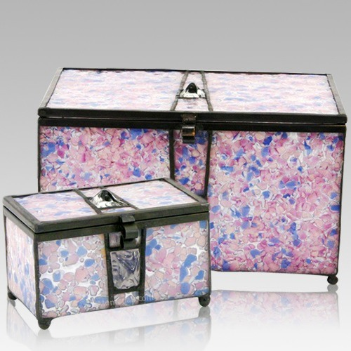 Rose Cathedral Glass Memory Chests