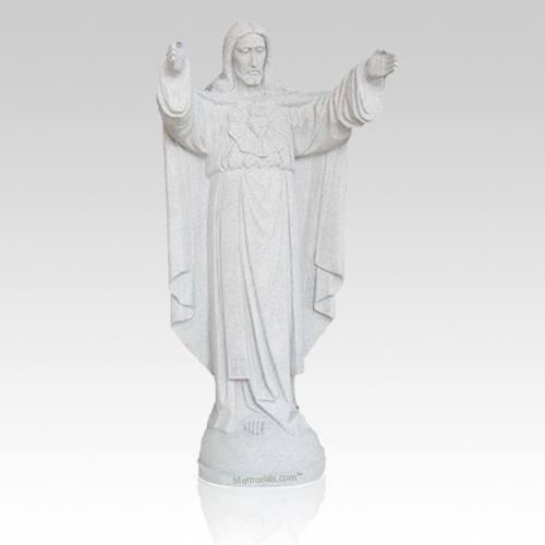 Sacred Heart Granite Statue