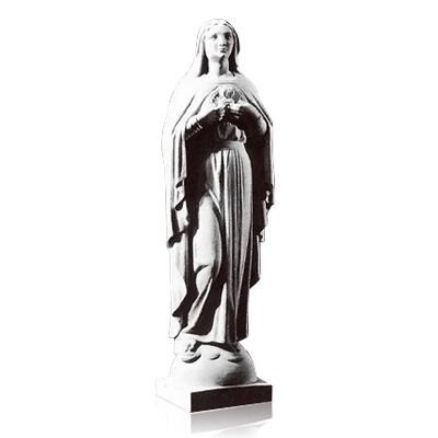 Sacred Heart of Mary Marble Statues