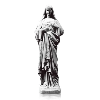 Sacred Heart of Mary Prayer Marble Statues