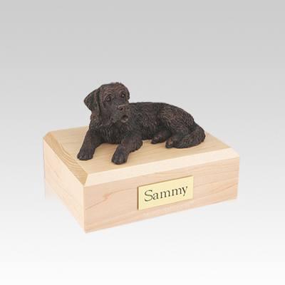 Saint Bernard Bronze Small Dog Urn
