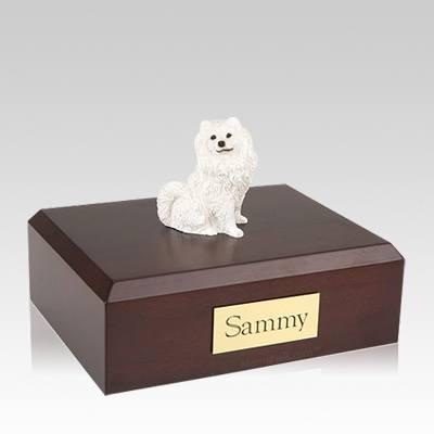 Samoyed Resting Large Dog Urn