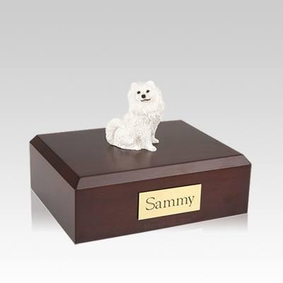 Samoyed Resting Medium Dog Urn