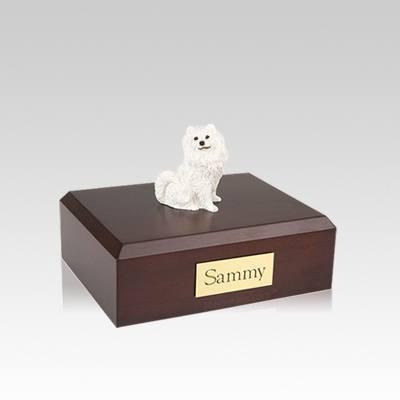 Samoyed Resting Small Dog Urn