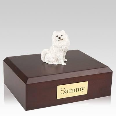 Samoyed Resting X Large Dog Urn