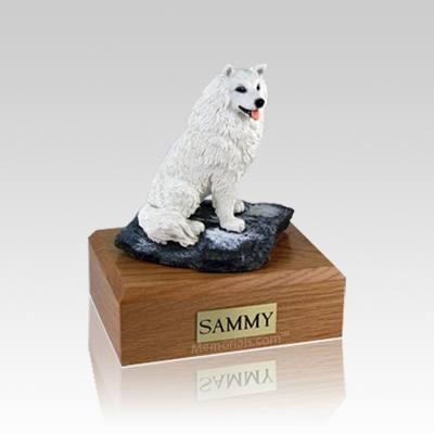 Samoyed Sitting Medium Dog Urn