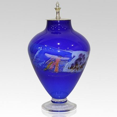 Sapphire Crystal Cremation Urn