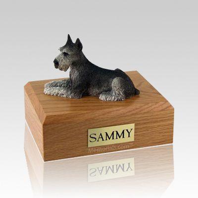 Schnauzer Black & Silver Large Dog Urn