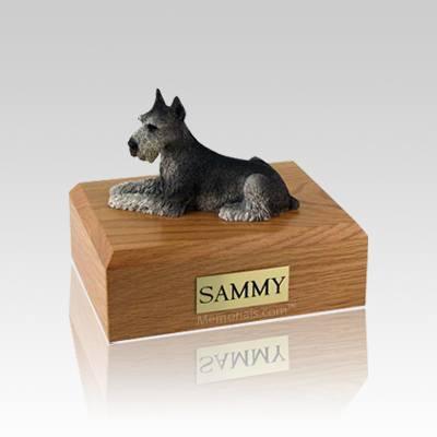 Schnauzer Black & Silver Small Dog Urn