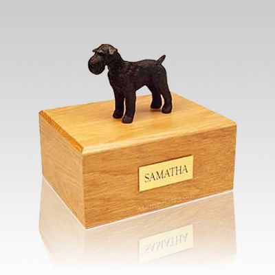 Schnauzer Black Medium Dog Urn