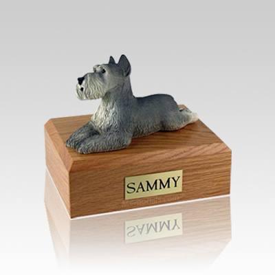 Schnauzer Grey Small Dog Urn
