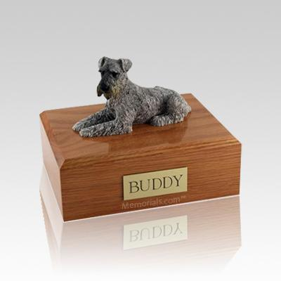 Schnauzer Silver Medium Dog Urn