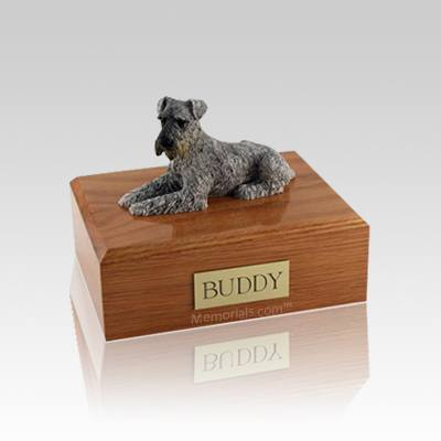 Schnauzer Silver Small Dog Urn