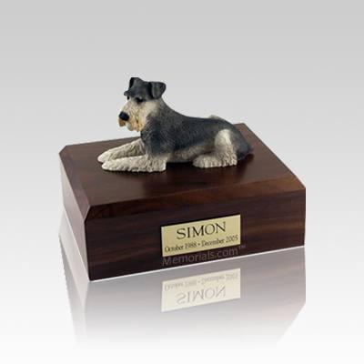 Schnauzer Small Dog Urn