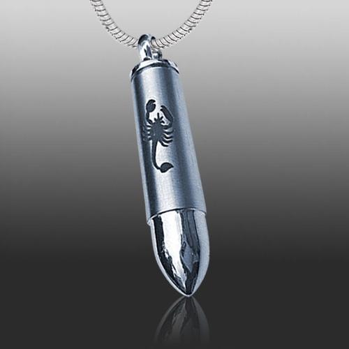 Scorpion Bullet Cremation Necklace