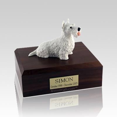 Scottish Terrier White Large Dog Urn