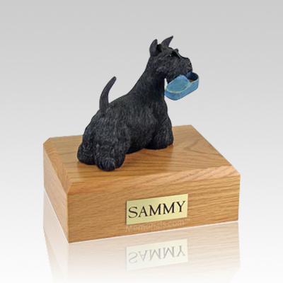 Scottish Terrier with Slipper Large Dog Urn