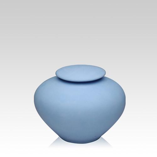 Blue Sea Small Porcelain Clay Urn