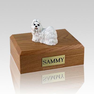 Shih Tzu White X Large Dog Urn