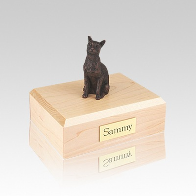 Siamese Bronze Small Cat Cremation Urn