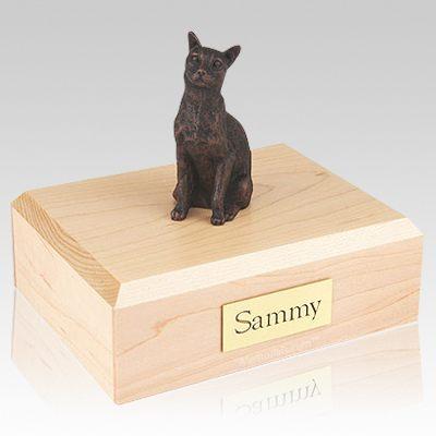 Siamese Bronze Cat Cremation Urns