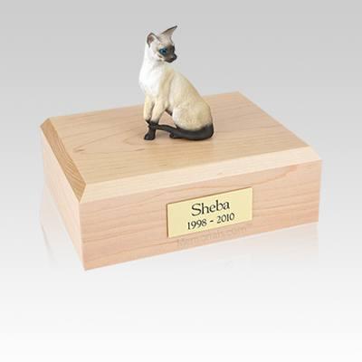 Siamese Seal Point Medium Cat Cremation Urn