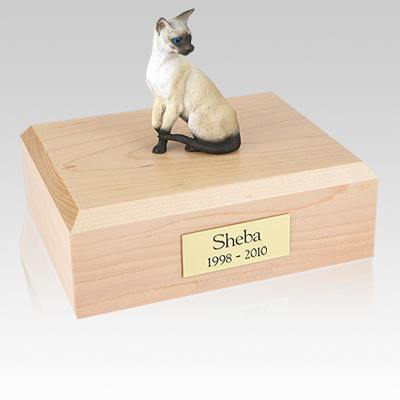 Siamese Seal Point Cat Cremation Urns