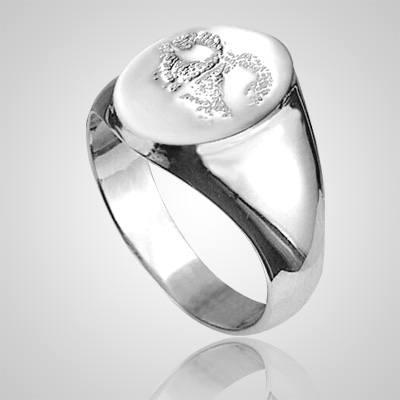 Pet Signet Ring Print 14k White Gold Keepsakes