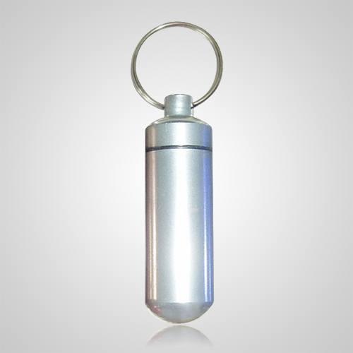 Silver Pet Keepsake Keychain