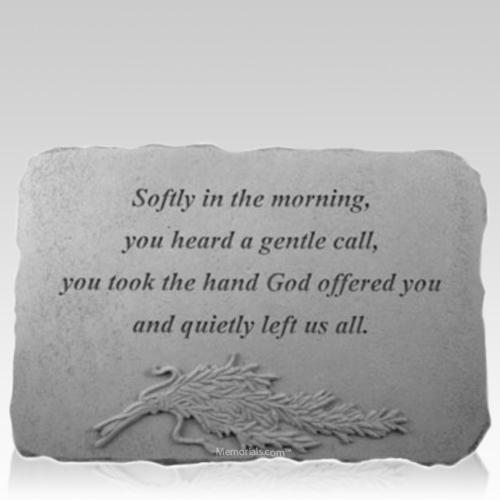 Softly Rosemary Memorial Stone