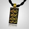 Splendor Gold Glass Memorial Jewelry