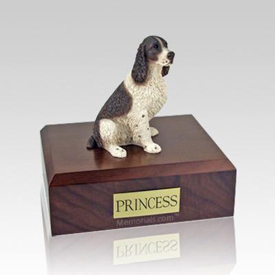 Springer Spaniel Liver & White Large Dog Urn