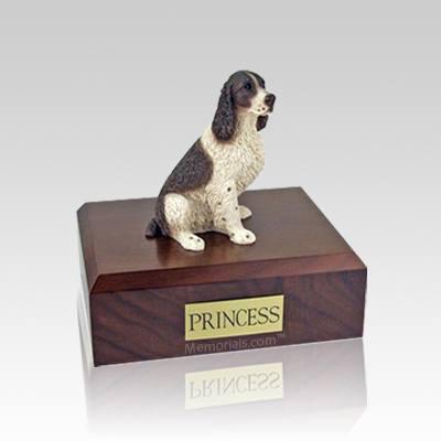 Springer Spaniel Liver & White Small Dog Urn