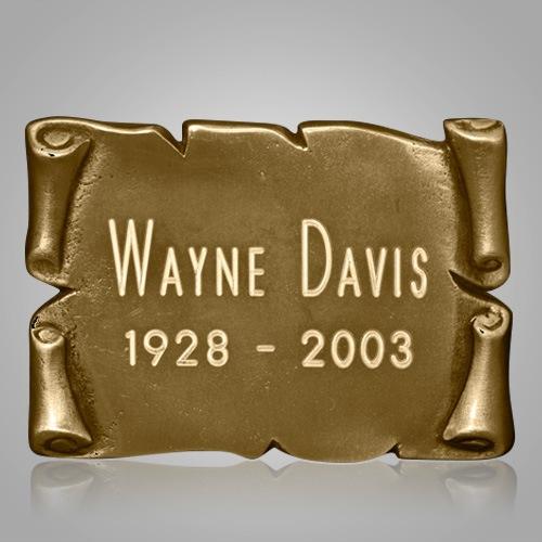 Square Gold Nameplate Medallion