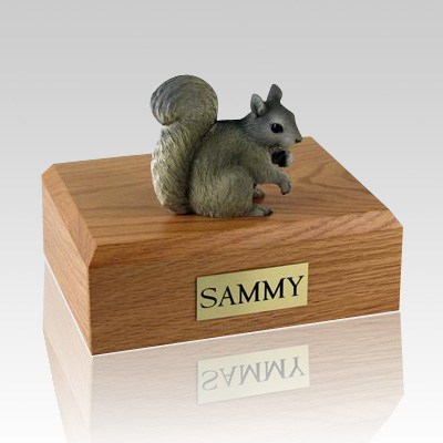 Squirrel Gray X Large Cremation Urn