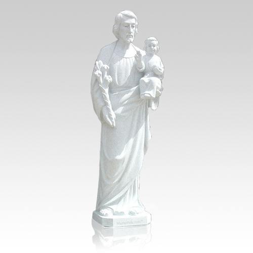 St. Joseph with Child Granite Statue