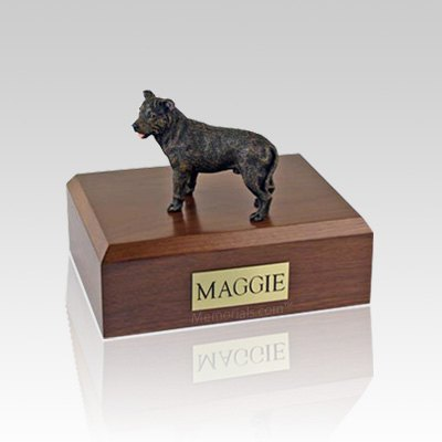 Staffordshire Bull Terrier Brindle Large Dog Urn