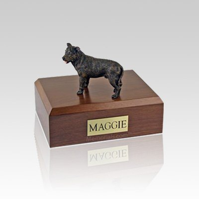 Staffordshire Bull Terrier Brindle Medium Dog Urn