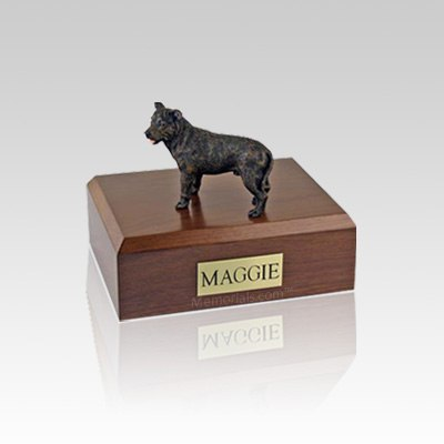 Staffordshire Bull Terrier Brindle Small Dog Urn