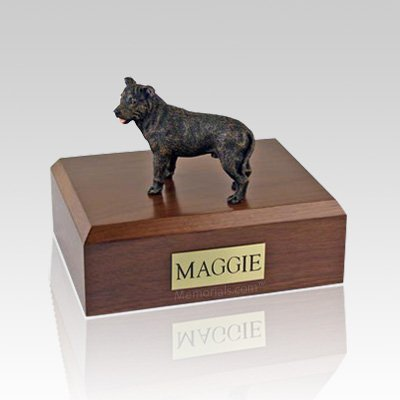 Staffordshire Bull Terrier Brindle X Large Dog Urn