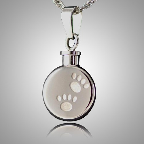 Pet Paw Signet Cremation Keepsake V