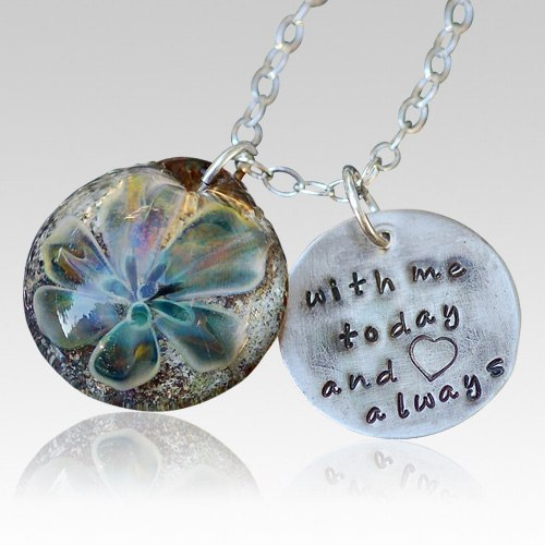 Sterling Lily Cremation Ash Pendant