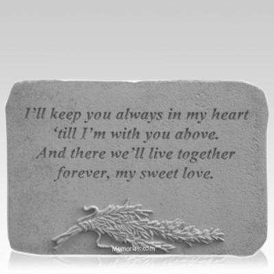 Sweet Love Rosemary Memorial Stone